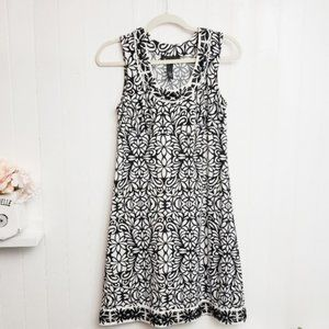MOVING SALE! INC Beaded Black and White Dress Sz M